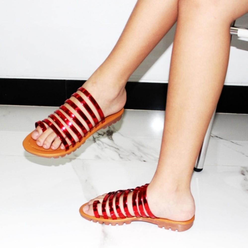 Marlee Sandal Flat Kronjo Wanita MB-04 New Colour & Material