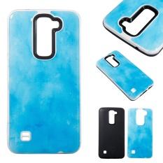 Marmer Kasus Pelindung Dual Slim Slim Fit Hybrid Hard Back Cover untuk LG K8/Phoenix 2/Escape 3 /K350N-Intl