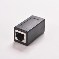 Marsnaska 1 PC Hitam Female To Female Network LAN Konektor Adaptor Coupler Extender RJ45-Intl