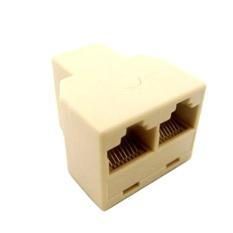 Marsnaska RJ45 Splitter Konektor CAT5 LAN Ethernet Splitter Adapter 8P8C Jaringan Dual-Intl
