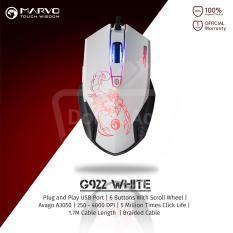 Beli Marvo G922 Gaming Mouse Macro Avago A3050 4000 Dpi Putih Nyicil