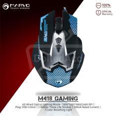Jual Marvo Gaming Mouse M418 6D 2400 Dpi Hitam Di Dki Jakarta