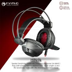 Beli Marvo H8656 Gaming Headset Cool Led Light Usb Power Hitam Murah