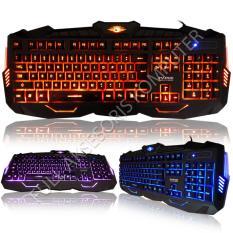 Marvo K400 Gaming Keyboard USB with 3 Colors LED - Hitam