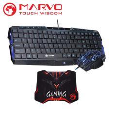 Marvo Keyboard + Mouse Gaming Combo K325 + M306 + G5 - Hitam