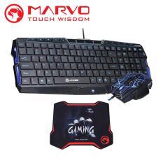 Marvo Keyboard + Mouse Gaming Combo K325 + M306 + G6 - Hitam