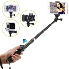 Maryger 4-in-1 Portable Bluetooth Selfie Stick for iPhone, Android Mobile,Digital Camera and Waterproof Action Camera,Black - intl