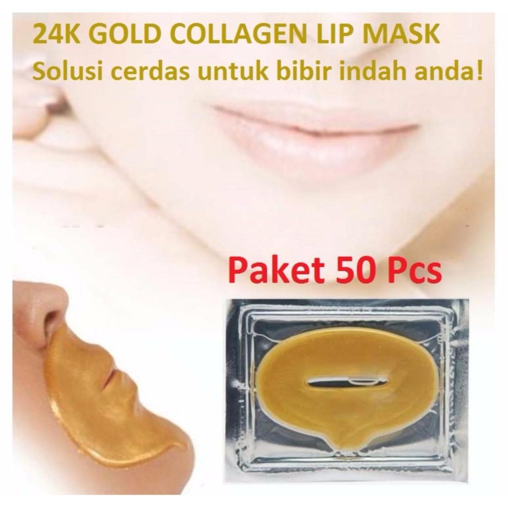 Masker Bibir Collagen Lip Mask - 50 Pcs