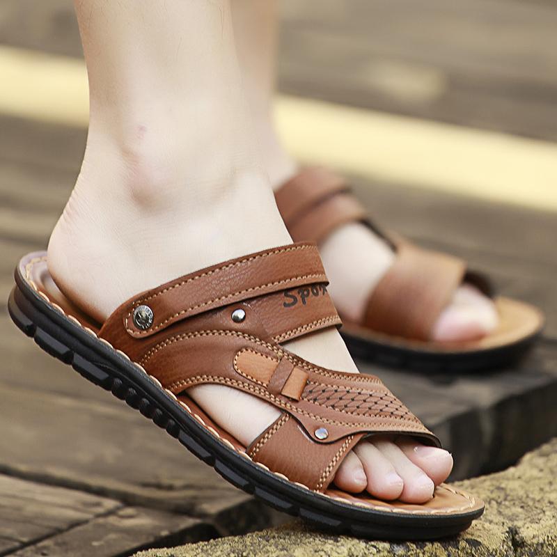 Masuknya Laki Laki Dan Laki Laki Non Slip Sandal Sandal 8805 Coklat 8805 Coklat Oem Murah Di Tiongkok