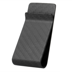 Matte Finish Carbon Fiber Business Card Cash Wallet Money Clip (Intl)
