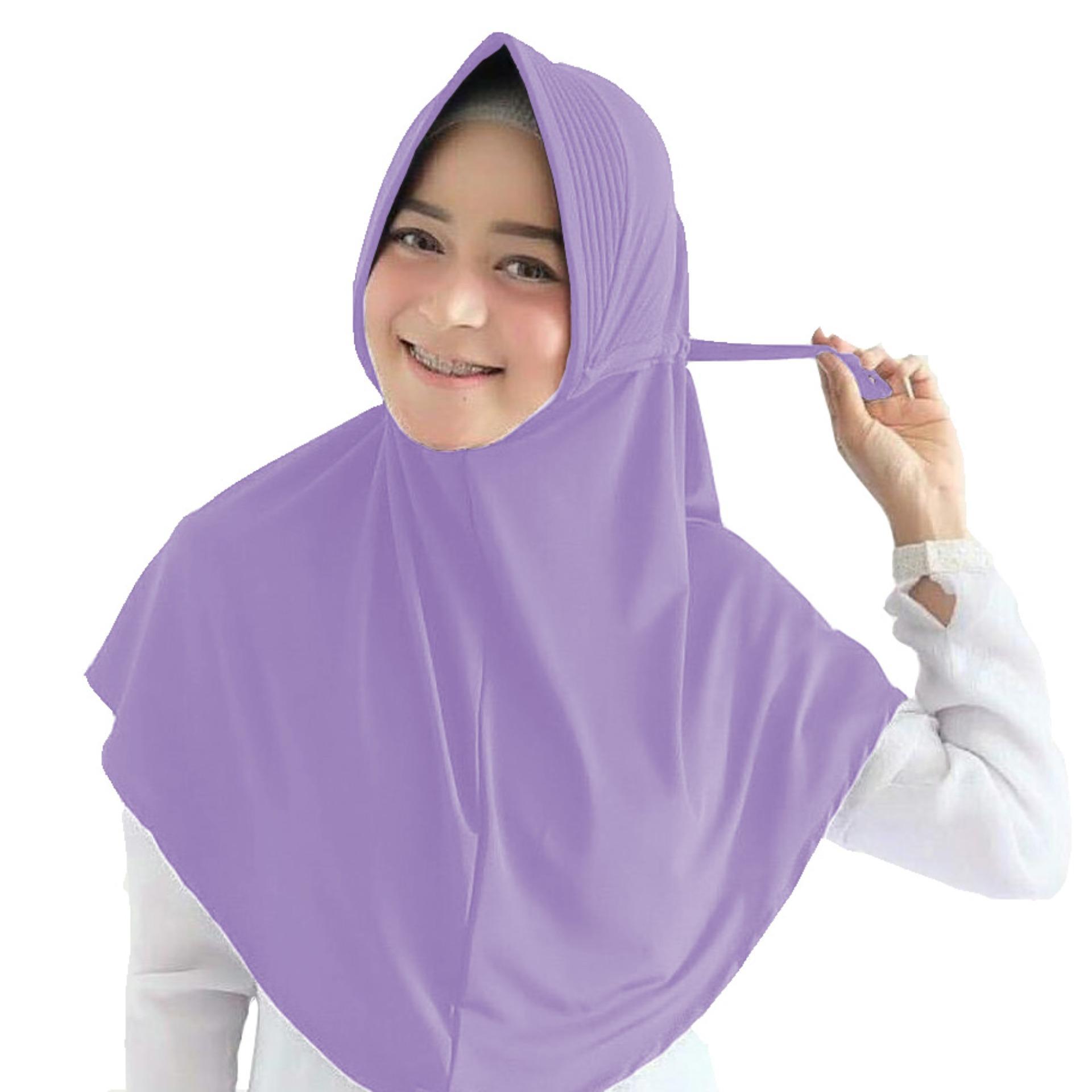 Maula Hijab Jilbab Instan Serut Jokowi Jersey Kerudung instan jilbab khimar