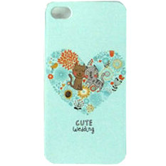 Max Custom Case Hard Printing Cover Fashion Korean Style for iPhone 4/ 4S - Cute Wedding Cat