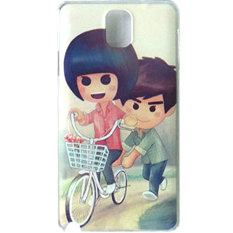 Max Custom Case Hard Printing Cover Fashion Korean Style for Samsung Galaxy Note 3 - Couple On Bike