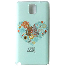 Max Custom Case Hard Printing Cover Fashion Korean Style for Samsung Galaxy Note 3 - Cute Wedding Cat