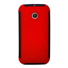 Max Hybrid for Motorola Moto E Pudding Jelly Beautiful Ultra Thin Stealth Case - Merah