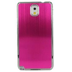 Spesifikasi Max Imported Fashion Design Metal Back Hardcase For Samsung Galaxy S5 Hot Pink Max