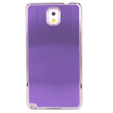 Harga Hemat Max Imported Fashion Design Metal Back Hardcase For Samsung Galaxy S5 Mate Purple