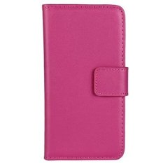 Jual Max Imported Premium Korean Fashion Leather Flip Case For Samsung Galaxy S4 Hot Pink Max Grosir