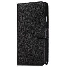 Harga Max Samsung Galaxy Note 3 Wallet Flip Case Leather Black Asli