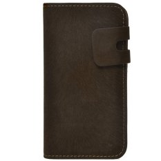 Ulasan Lengkap Tentang Max Velvet Wallet Flip Case Leather For Samsung Galaxy S4 Extra Dark Chocolate