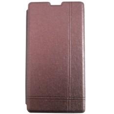 Toko Max Xiaomi Redmi 1S Imported Premium Cover Wallet Flip Case Cokelat Online Terpercaya
