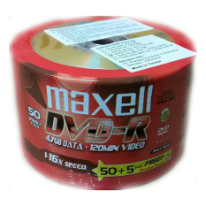 Maxell 4.7 Gb 16x Recordable Disc Dvd-R - 55 Disc Bulk Pack By Cmart Computer.