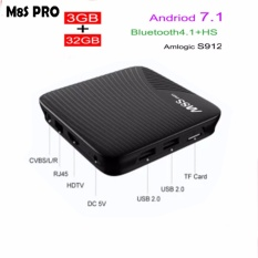 MECOOL M8S PRO Android 7.1 TV Box DDR4 3G/32G BT 4.1 Amlogic S912 Octa Core ARM Cortex-A53 64bit 4K Full HD 3D VS T95Z PLUS - intl