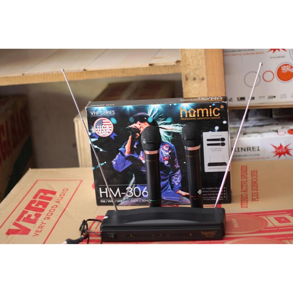 Jual Medan Electronik Mic Wireless Homic Pengeras Suara Murah Import