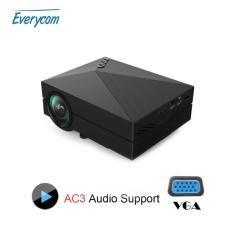 Media Pemutar Gm60 Mini Lcd Projector 1000 Lumens AC3 Dukungan Fullhd Video Portabel LED Rumah Theater Murah HDMI Projector Beamer -Internasional