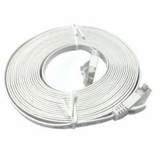 Mediatech Kabel Lan Flat 5m Cat 6 - Putih