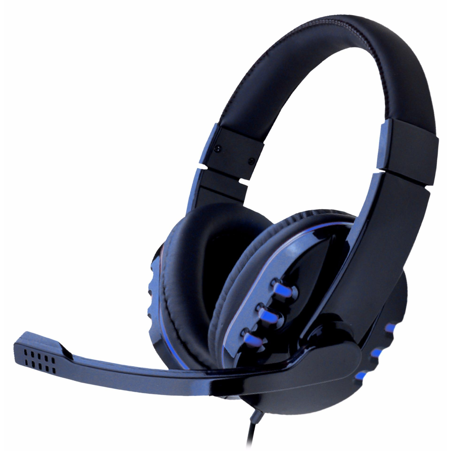 Mediatech Gaming Headset Headphone Zeus Msh 016 Biru Mediatech Diskon 40