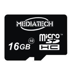 Diskon Mediatech Microsd 16 Gb Class 10 Hitam Akhir Tahun