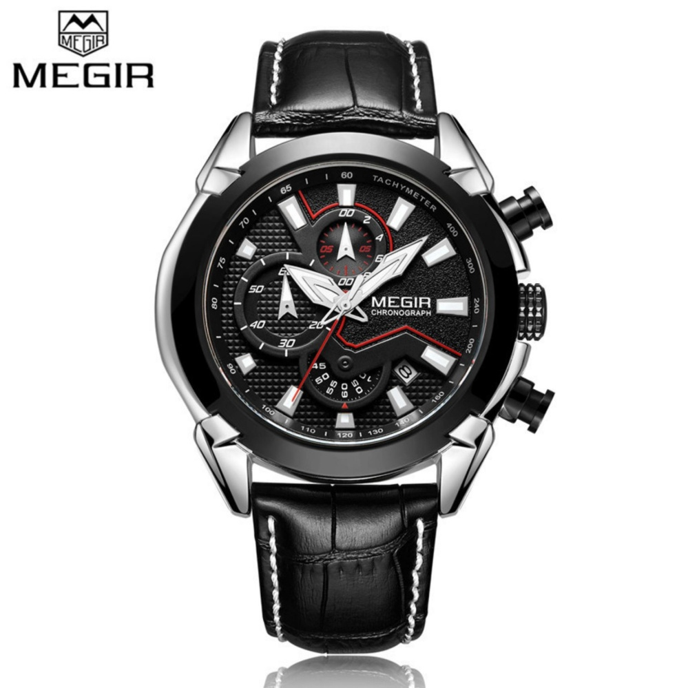 Toko Megir 2065 Creative Quartz Men Watch Leather Chronograph Army Military Sport Watches Clock Men Casual Business Watch Black Gold White Intl Online