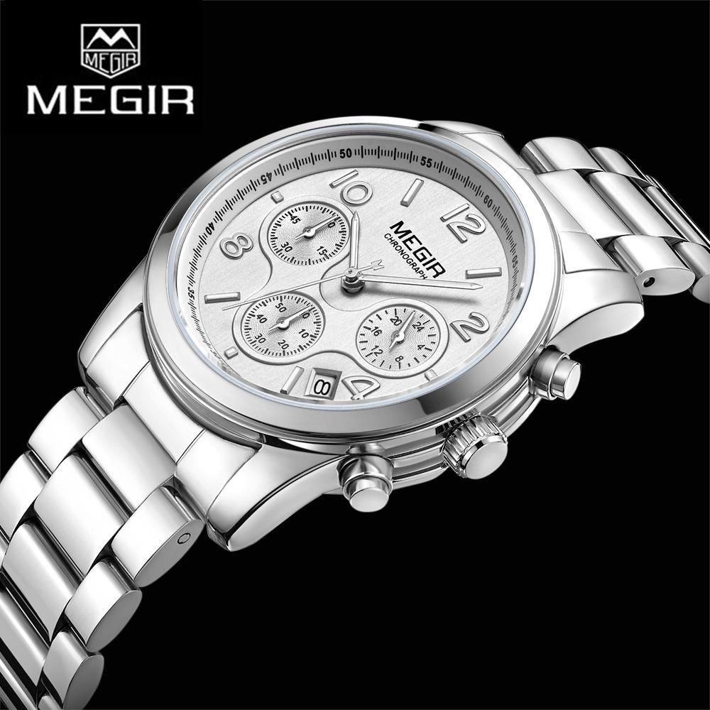 Megir Women's Watches Quartz WristWatch Luminous Pointer 3Bar Waterproof 2057 - intl