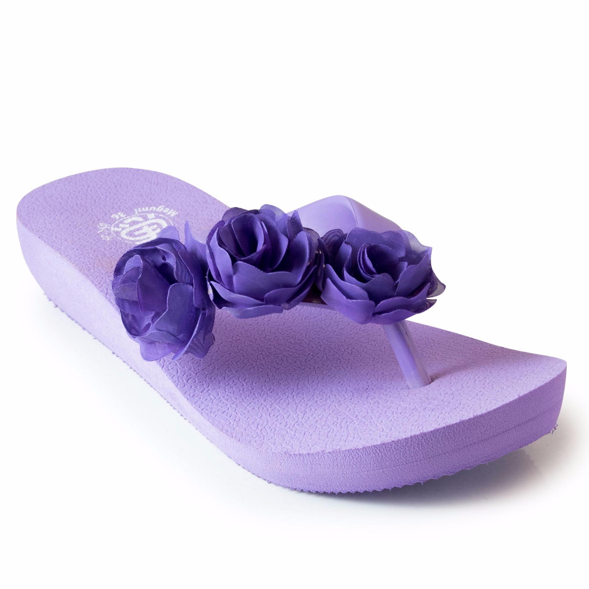 Harga Megumi Sandal Jepit Wanita Aster Purple Asli Megumi Sandal