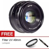 Jual Meike Mk 35Mm F 1 7 Manual Focus Lensa For Fujifilm X Mount X A1 A2 Free Aksessories Lensa