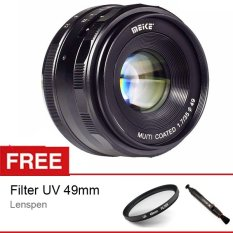 Harga Meike Mk 35Mm F 1 7 Manual Focus Lensa For Sony E Mount Nex7 A6300 A5000 A5100 A6000 Free Aksessories Lensa Yg Bagus