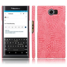 Meishengkai Case For BlackBerry Priv PU +Leather Kickstand PU Leather crocodile pattern hard shell leather protective sleeve case - intl