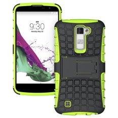 Meishengkai Case untuk LG K10 Detachable 2 In 1 Shockproof Tough Rugged Mencegah Tergelincir Dual-