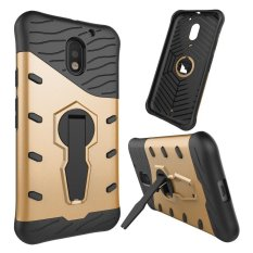 Meishengkai Case untuk Motorola MOTO E3 Putar Kickstand Hybrid Shock-Absorbing Protective Case Tough Rugged Dual Layer Case Cover -Intl