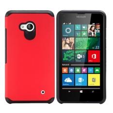 MeiShengKai untuk Microsoft Lumia 640, [Premium Rugged] Dual Layer Detachable 2 In 1 Hybrid Shockproof Heavy Duty Bumper Pelindung-Hijau- INTL