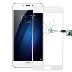 Meizu M3E 0.26 Mm 9 H Kekerasan Permukaan Tahan Ledakan Silk-Screen Kaca Anti Gores Penuh Lapisan Film Layar (Putih) -Intl