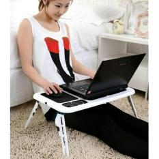 Meja Laptop Lipat Portable E-Table with Cooling Pad