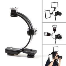 Model Meking C Bentuk Flash Ganda Panas Sepatu Golongan For Kamera Video Dv Cahaya Memicu Flash Hitam Terbaru