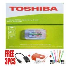 Memory Card Toshiba 16 GB Free OTG Connect Kit+Card Reader+ LAMPU LED USB