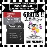 Memorycard Sandisk Microsdxc 64Gb 80Mb S Sd Adapter Gratis Handsfree Cardreader Microsdhc Kabel Charger Casan Micro Usb Sandisk Diskon 50