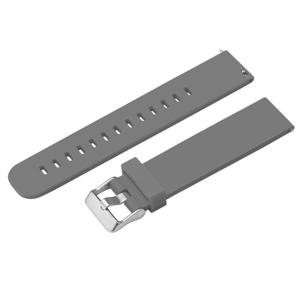Men Waterproof Buckle Silicone Rubber Watch Band (Gray) - intl