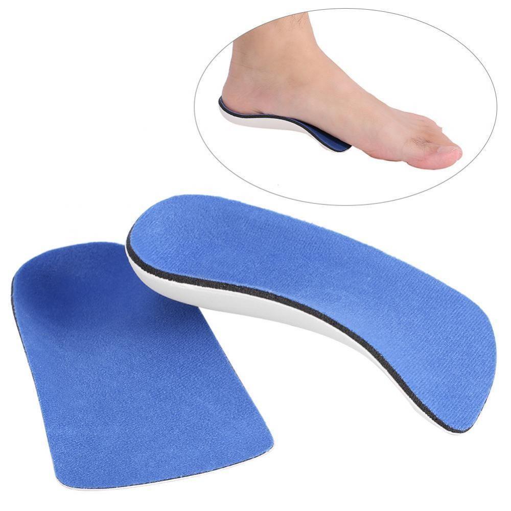 Pria Wanita Sehat Setengah EVA Penopang Lengkungan Ortopedi Sol Kaki Correction Shoe Sisipan Bantalan L-Internasional