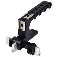 MENGS 1/4 �  X9D dan 3/8 Lubang Berulir Top Handle dengan AlloyAluminumDesigned untuk Canon C100/C300/C500 Kamera-Intl