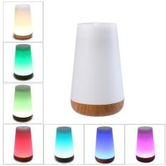Mengyanni Portable Smart Touch Kontrol Lampu Malam dengan Bluetooth Speaker, Colorful LED Lampu Meja Lampu Samping Tempat Tidur Membaca Lampu Putih Hangat-Internasional